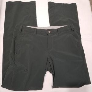 REI Women Pants Sz 8 Gray Cargo Convertible Capri